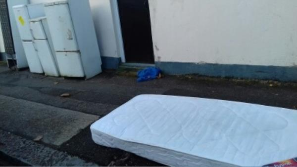 A mattress and 4 fridge freezers dumped near 59 Southern Road -59 Southern Road, London, E13 9JD