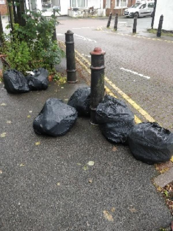flytipping on Lime Street outside church-83a Lime St, Wolverhampton WV3 0AN, UK