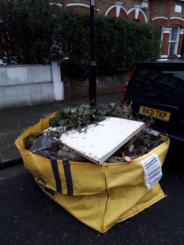 large fly tip of green waste -16 Knighton Road, London, E7 0EE