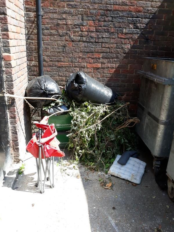 garden waste bags and boxes -16 Peters Path, London, SE26 6LD