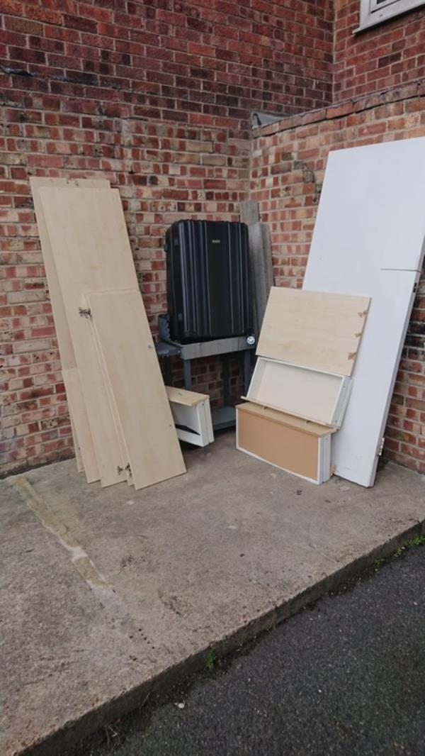 Loads if wood at the back of falcon street all needs picking up ASAP -81 Falcon Street, London, E13 8DD