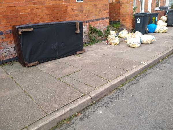 fly tipping again-93 Sylvan St, Leicester LE3 9GU, UK