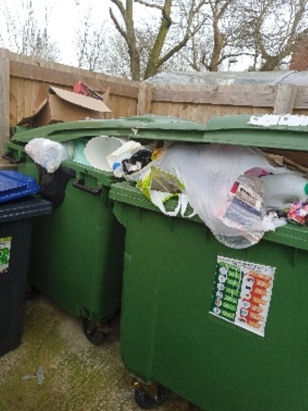 contaminated recycling 1 Bevan Close -1 Conwy Close, Reading, RG30 4NP