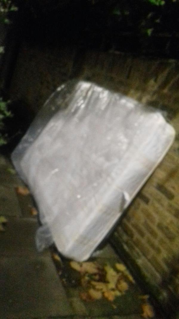 A mattress dumped opposite 7 Vaughan Road E15 -7 Vaughan Road, London, E15 4AA