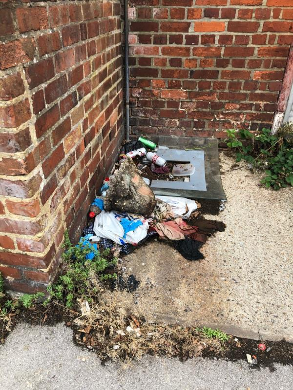 Fly tipping in front of garage adjacent to 86 York Road -88 York Road, Reading, RG1 8DU