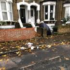 Litter and slippy leaves-263b Amhurst Road, London, N16 7UN