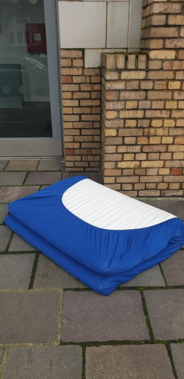 Someone has dumped a mattress outside Pegasus house 89 Greengate e130bn-91b Greengate Street, London, E13 0BG