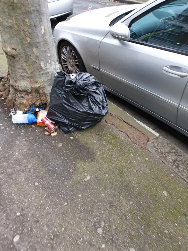 Rubbish dumped by tree at 53 Lathom Road please clean. Dumped by the tenants nearby AGAIN -40 Lathom Road, London, E6 2DX