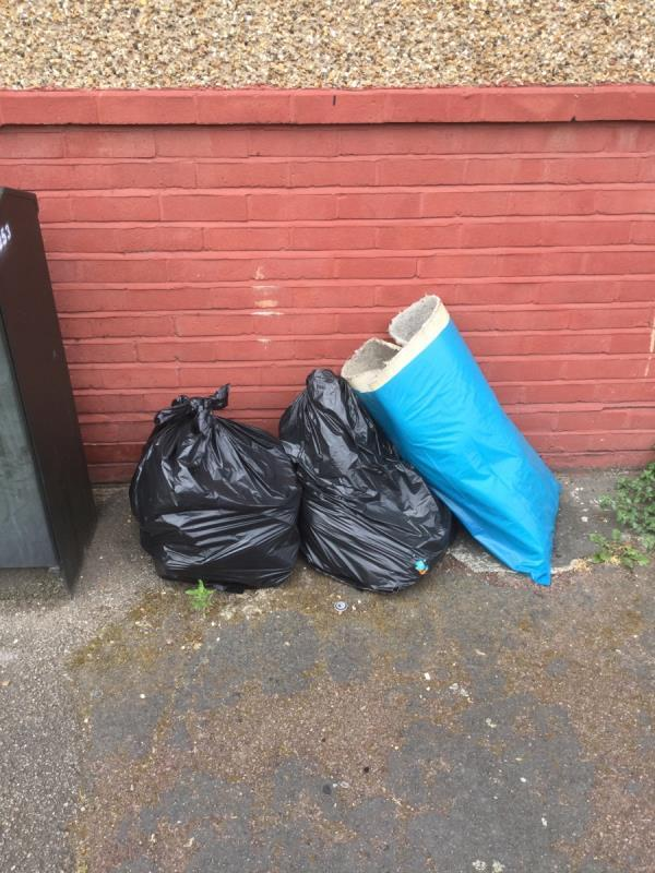 Junction of shipman road household waste and a rug -48 Gresham Road, London, E16 3DU