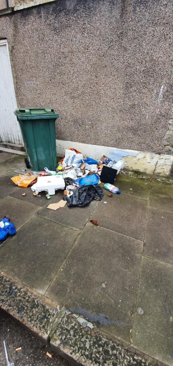 some one has dumped this outside our property -1 Durham Road, London, E16 4NF