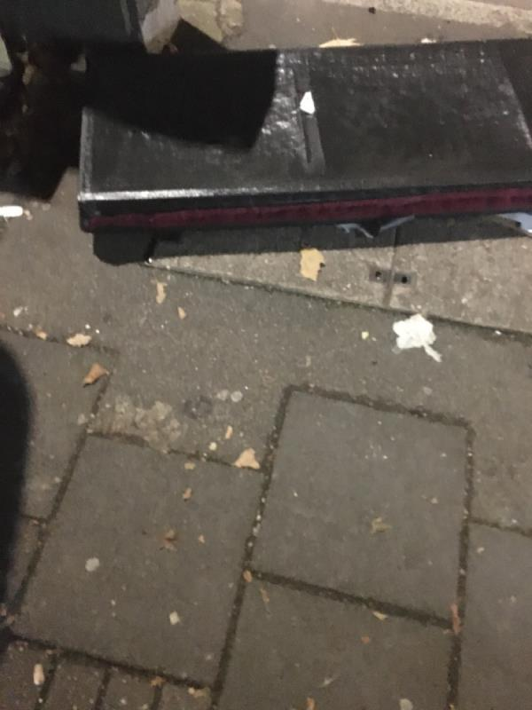 Rubbish dumped -243 Katherine Road, London, E7 8PP