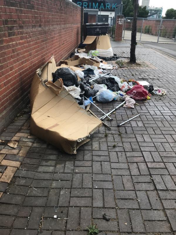 Domestic rubbish -9 Ron Leighton Way, East Ham, E6 1HZ