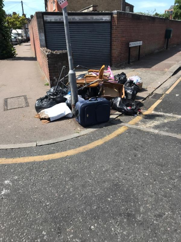 Garden waste, boxes, furniture -160 Rosebery Avenue, London, E12 6PS