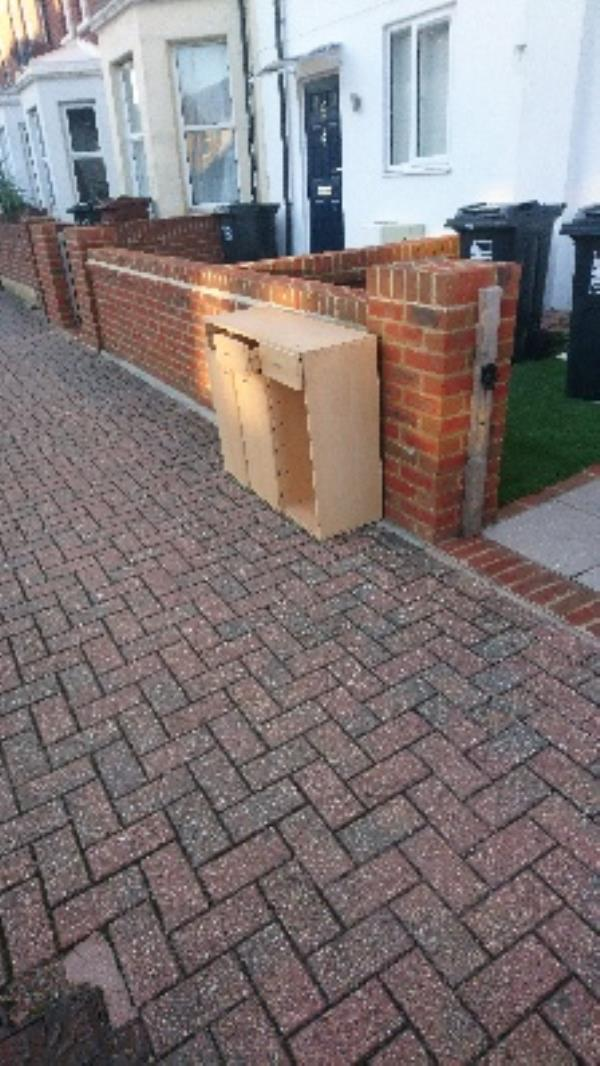 Dumped fly tipping -99d Cavendish Place, Eastbourne, BN21 3TY