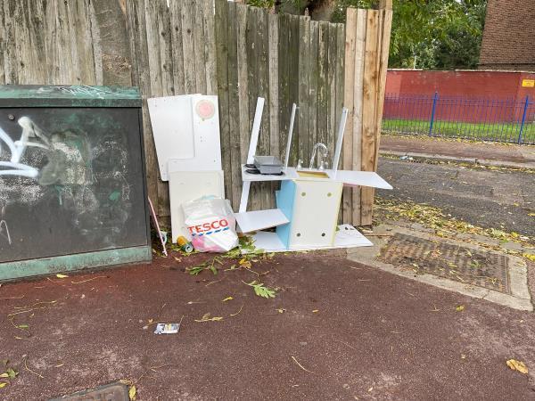 Rubbish -78 Colchester Ave, London E12 5LE, UK
