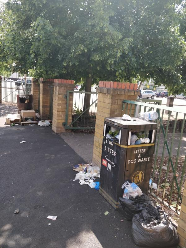 Litter box overflowing beside 11 Manbey Road E15-11 Manbey Road, London, E15 1ET