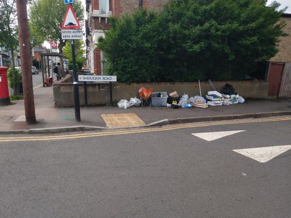 Street cleansing bags, fruit and veg boxes etc-64 Browning Road, Manor Park, E12 6QZ