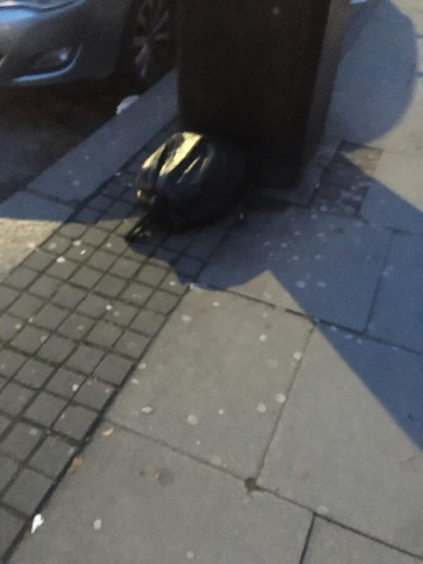 Black bag rubbish -43 Woodgrange Road, London, E7 8BA