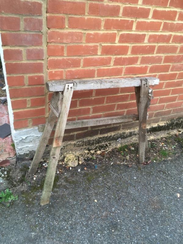 Tressel left in the street -45a Godwin Road, London, E7 0LF