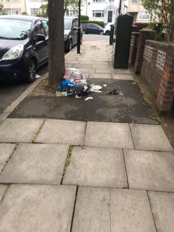 Fly tipped household rubbish and food are dumped on Locarno Road junction Greenford Road ub6 -504 Greenford Road, Greenford, UB6 8SH
