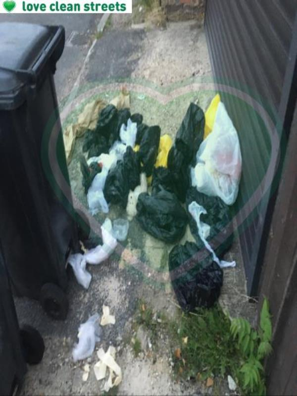 Rubbish dumped outside garage -460 Bromley Road, Bromley, BR1 4PP