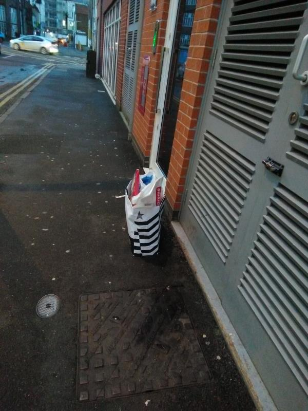 Fly-tipping outside Blenheim Court-148 Charles Street, Leicester, LE1 1LB
