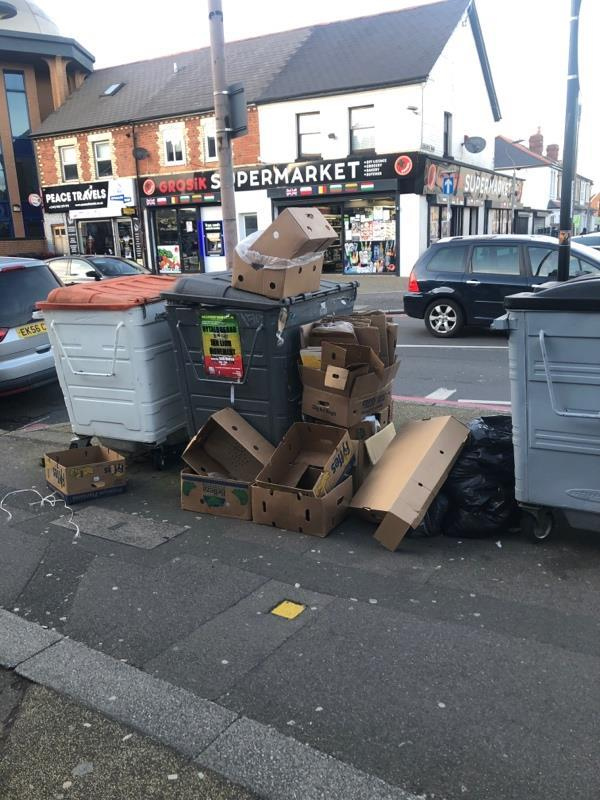 Overflowing bins-395 Oxford Road, Reading, RG30 1AD