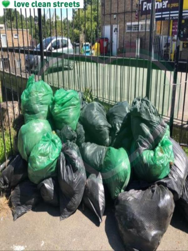 Please clear flytip of builders easte-6 High Level Drive, London, SE26 6XW