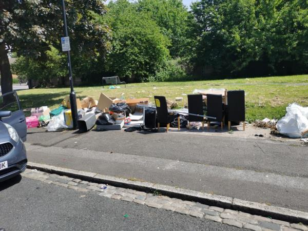 Fly tipping, evidence obtained. Please remove -23 Riverside Road, London, E15 2RL