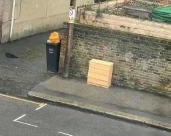 Junction of Longhurst Road. Please clear flytip-26 Staplehurst Road, London, SE13 5LZ