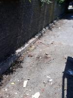 fencing concrete slabs bags of clothing cardboard and packaging  image 2-4 Prospect Close, London, SE26 6LE