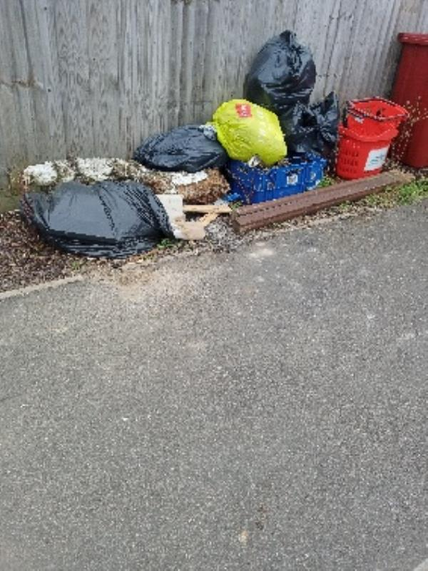 fly tipping Carron Close by 25B-32 Carron Close, Reading, RG30 4DS