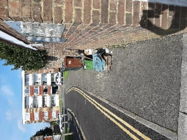 SEESL from NP Zone2 EBC 10th Oct 12.30pm please could you clear the fly tip from the access road into Bute Court Midhurst Road. thank you-20 Midhurst Road, Eastbourne, BN22 9HW