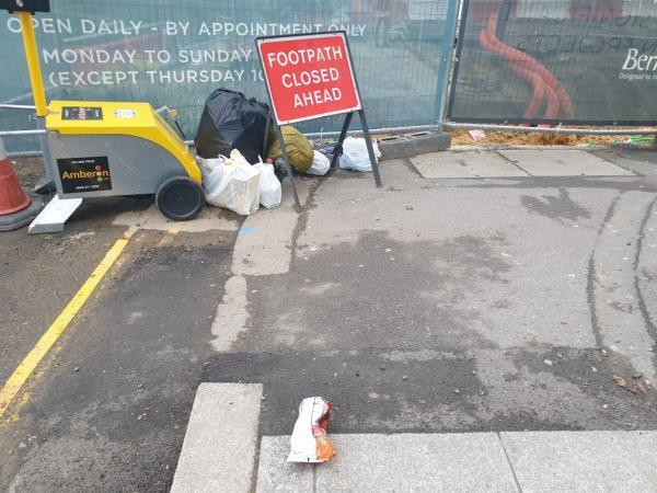 lots of bags of waste small bags-1 The Crescent, London, UB1 1BE