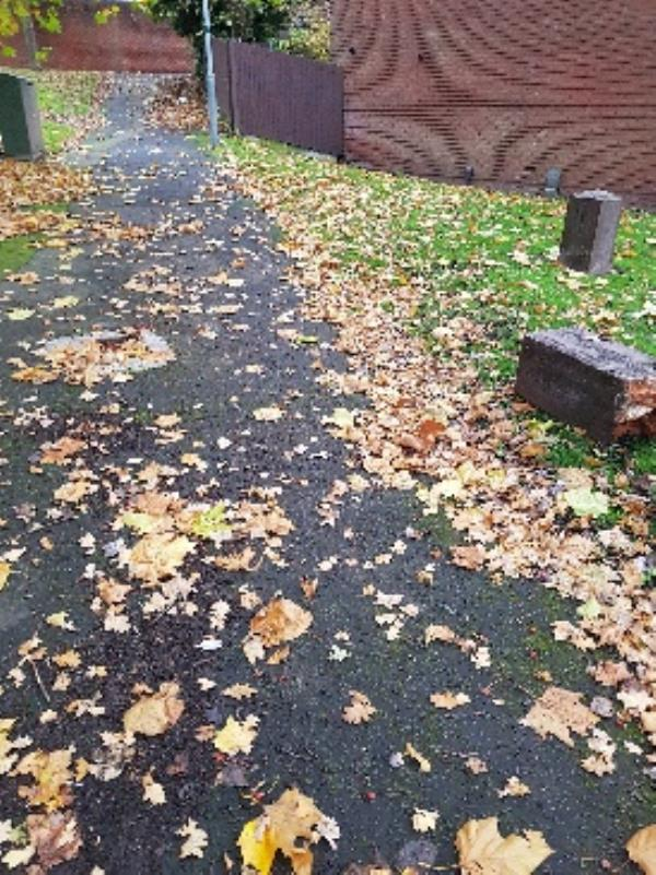 wooden bollard has been ripped out of the pavement and discarded on grass-184 Glentworth Gardens, Wolverhampton WV6 0SH, UK