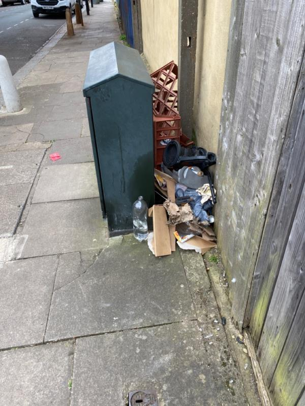 Mixed fly tip-Railway Arches 381 To 383 Strode Road, London, E7 0DU