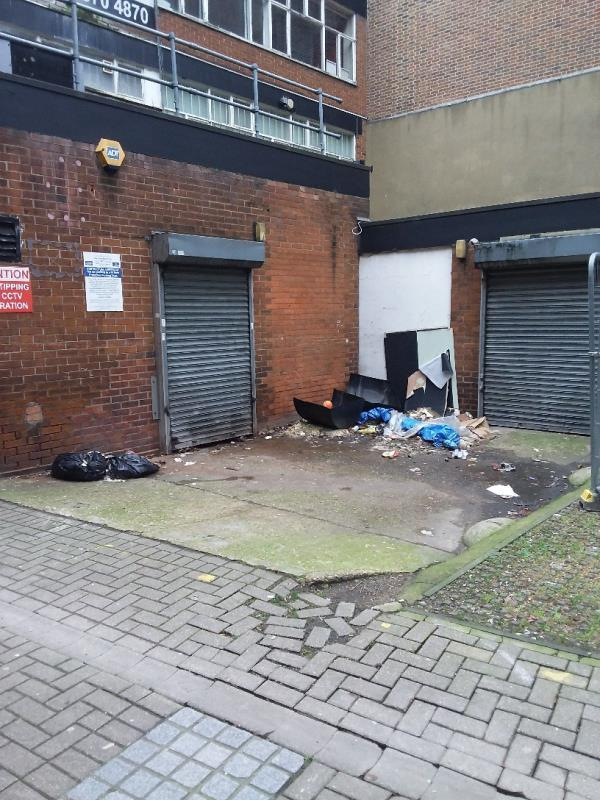 Litter and Bin Bags left at this location-The Richard Robert Residence, 7 Salway Place, London, E15 1NB