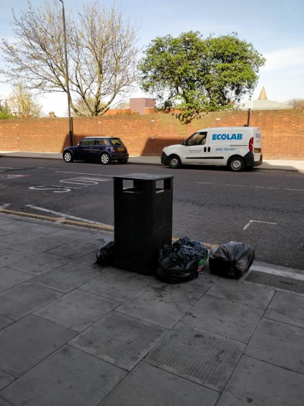 Flytipping at at the corner of Leytonstone and Maryland Street E15-Fusion Court, 91-97 Leytonstone Road, London, E15 1JA