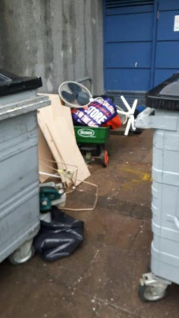 193 various items bin store. afternoon 14:09 pass to SB-Wensley Court, 193 Wensley Road, Reading, RG1 6EA