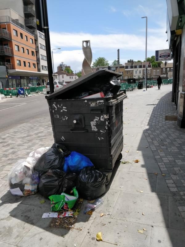 Flytipping beside 61 Leytonstone Road E15-59 Leytonstone Road, London, E15 1JA