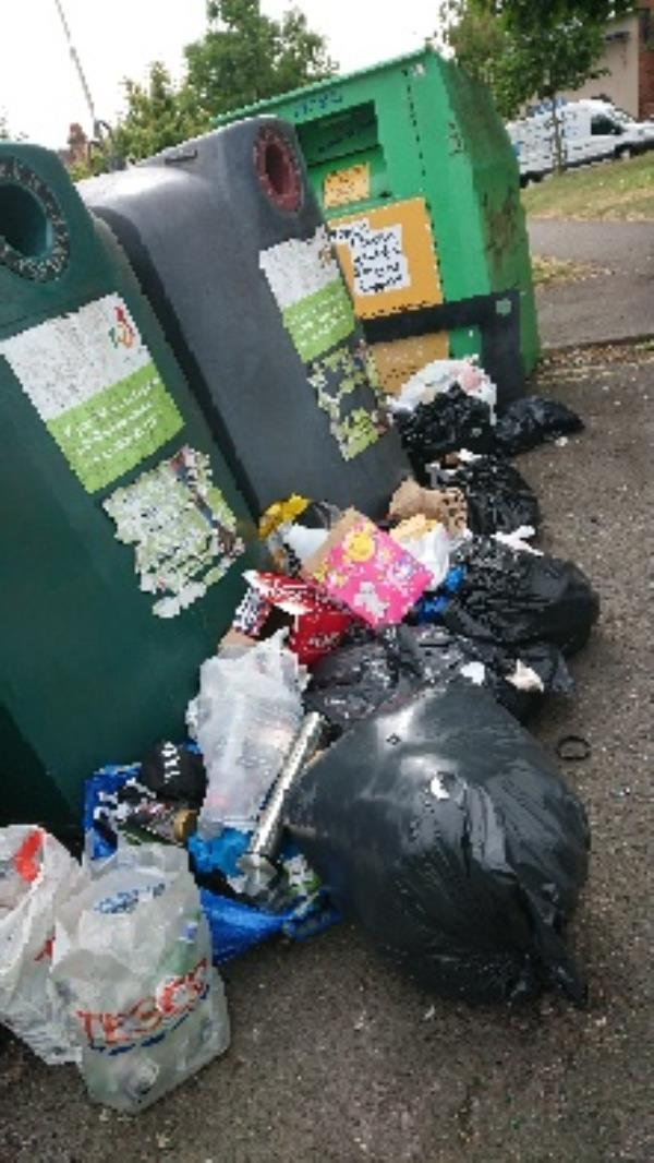 Large amount of household waste fly tipping removed -110 Mount Street, Reading, RG2 0EQ
