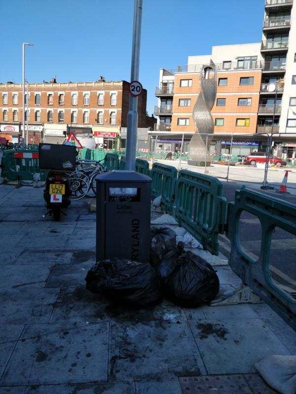 Flytipping beside 47 Leytonstone Road E15-43b Leytonstone Road, London, E15 1JA