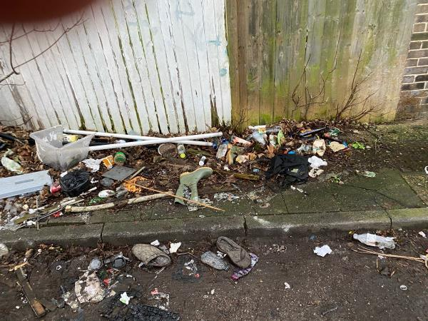Fly tipping and general crap  image 2-2d St James Road, London, E15 1RL