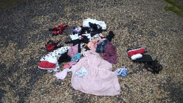 Flytipped clothes no evidence taken -85 Cressingham Road, Reading, RG2 7RX