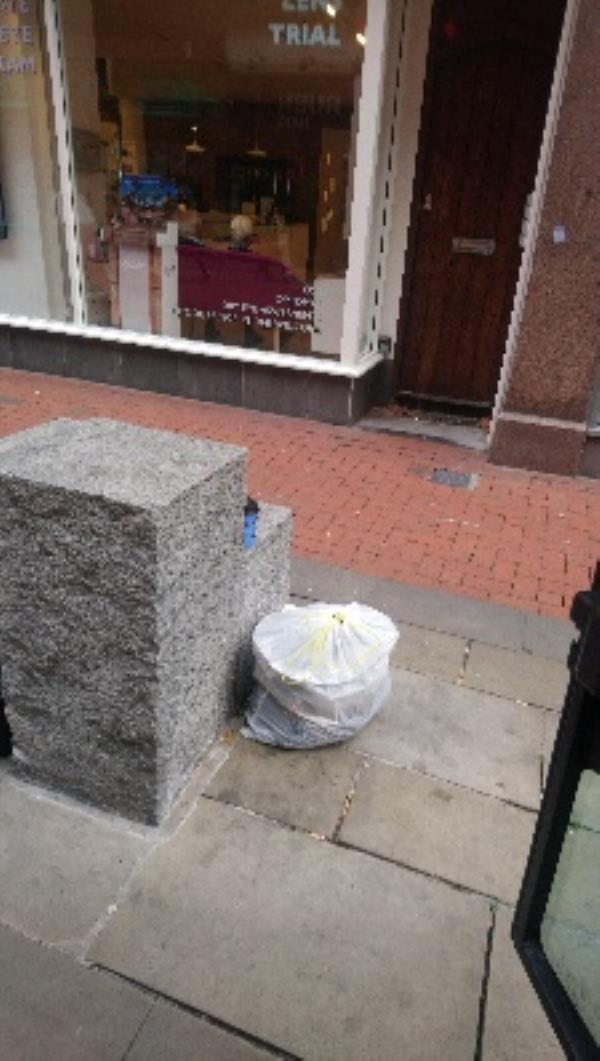 Continuous flytipping outside 12-14 Queen Victoria Street. Needs investigating and stopped -11 Queen Victoria Street, Reading, RG1 1TG
