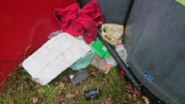 Car parts  fly tipped removed -158 Kentwood Hill, Reading, RG31 6DL