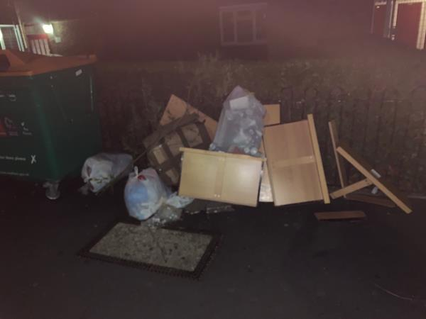 Have now reported this flytip three times and each time you say it's been cleared yet here it is again. Can you investigate why you send incorrect reports regarding flytip sand can you clear this flytip it's been here for 8 days and is getting worse -153 Earlham Grove, London, E7 9AP