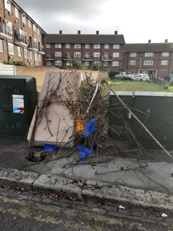 fly tipping -110b Field Road, London, E7 0DA