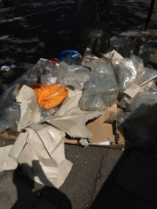 Dumped packaging -145 Stratford Road, London, E13 0JN