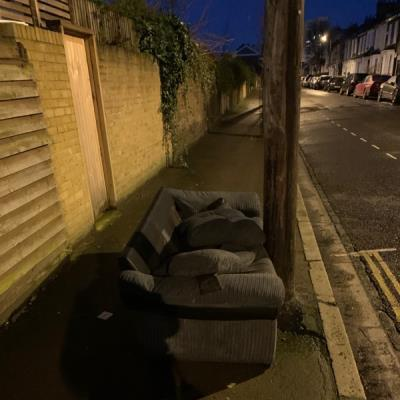 Fly tipping-97 Oriel Road, London, E9 5SG